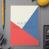 'Happy Birthday' Card Blue