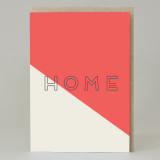 'Home' Text Card Red