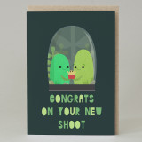 """Congratulation on your new shoot' Baby Card"