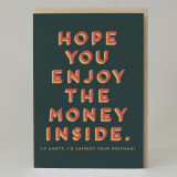 """Hope you enjoy the money"" Card"