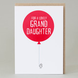 Balloons Grand Daughter Card
