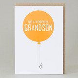 Balloons Grandson Card