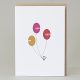 Bean Man 'Happy Birthday Balloons' Card