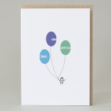 Bean Man 'Congratulations Balloons' Card