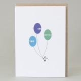 Bean Man 'Congratulations Balloons' Card