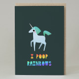 Unicorn Rainbow Poop Card