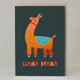 Llama Drama Card