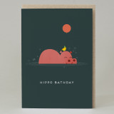 Hippo Bathday Card