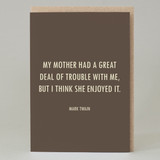 Mother's Day Twain Quote Card