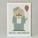 'Joyeux Anniversaire' Card