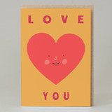 'Love you' Heart Card