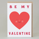 'Be my Valentine' Heart Card