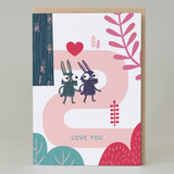 'Love you' Forest Walk Card