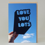 'Love You Lots' Cut Out card