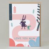 'Love you mum' Forest Walk Card