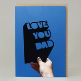 'Love You dad' Cut Out card