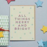 """All Things Merry and Bright"" Card"