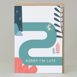 'Sorry I'm late' Forest Walk Card