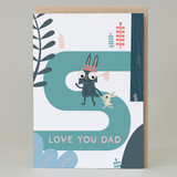 'Love you dad' Forest Walk Card