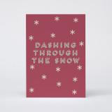 """Dashing Through The Snow"" Christmas Card"