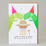 'Life finds a way to Paarrty!' Jurrasic Park Card