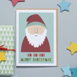 'Ho Ho Ho' Christmas Card