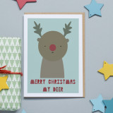 """Merry Christmas My Deer"" Christmas Card"