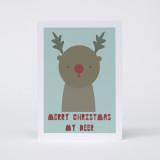 """""""Merry Christmas My Deer"""" Christmas Card"""