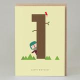 Lucky Pine Age 1: Birthday Card