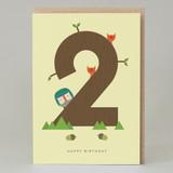 Lucky Pine Age 2: Birthday Card