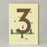 Lucky Pine Age 3: Birthday Card