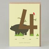 Lucky Pine Age 4: Birthday Card