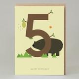 Lucky Pine Age 5: Birthday Card