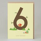 Lucky Pine Age 6: Birthday Card