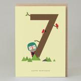 Lucky Pine Age 7: Birthday Card