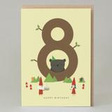 Lucky Pine Age 8: Birthday Card