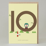 Lucky Pine Age 10: Birthday Card