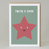 'You Are A Super Star' Card