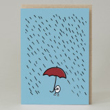 'Rainy Day' Wee Bean Man Card