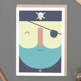 'Pirate Face' Card
