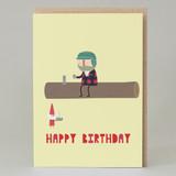 Lumberjack Happy Birthday Card
