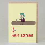 Lumberjack Happy Birthday Card
