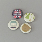 Lucky Pine Sawmill: Set of four badges