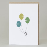 Bean Man 'Get Well Balloons' Card