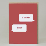 'I Love You, I know' Star wars Text Card