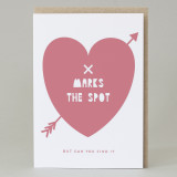 'X Marks The Spot...But Can You Find It? Valentine's Card
