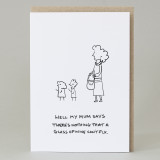 Overheard Mum, Mother's Day Card