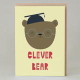 'Clever bear' Graduation Card