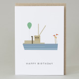 'Happy Birthday' Boat Card