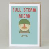 'Full steam ahead' Card